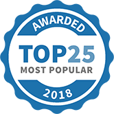 Top 25 Most Popular Driving Lessons badge for 2018